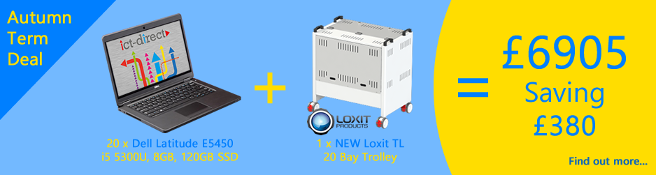 Laptop and Trolley Combo - Dell E5450 with Loxit LapBank TL