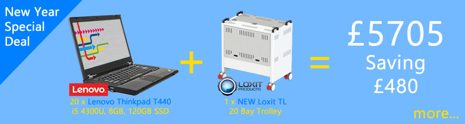 Laptop and Trolley Combo - Lenovo Thinkpad T440 with Loxit LapBank TL